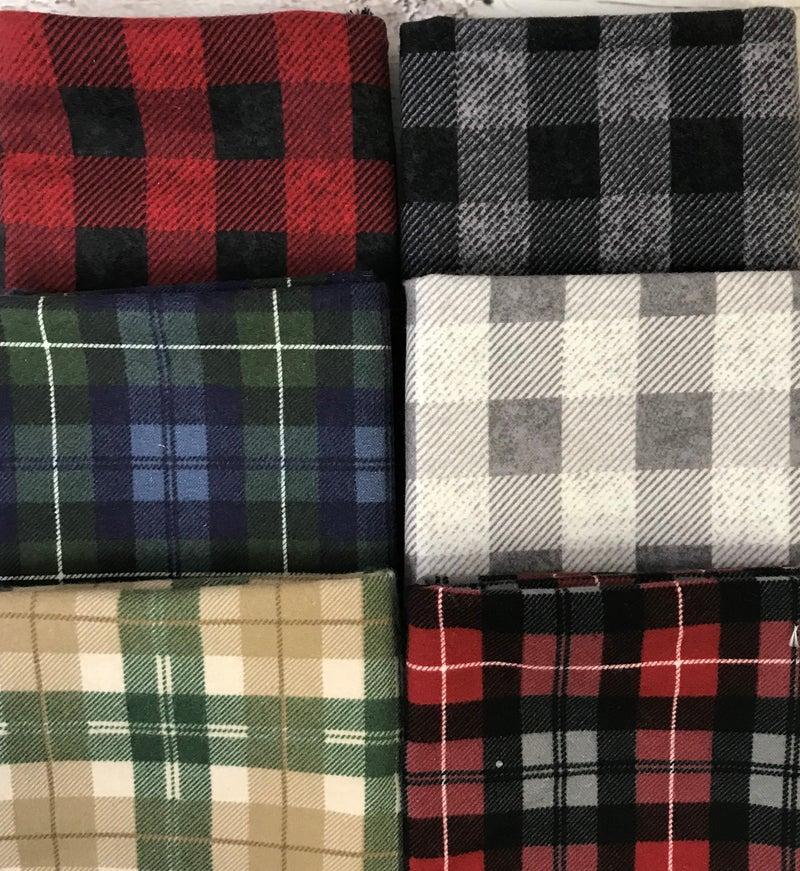 Six Half Yard Cuts - Flannel basics