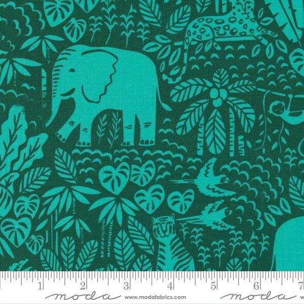 """One Yard Cut Moda Jungle Paradise Palm (42"""" cotton)"""