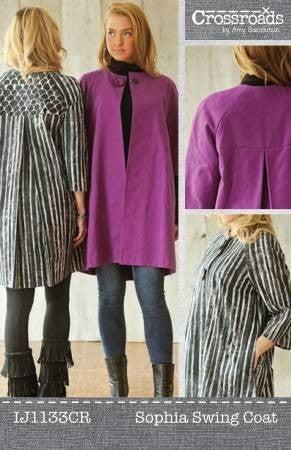 Pattern:  Sophia Swing Coat (CS up to 3X)