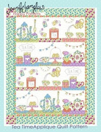 Pattern:  Tea Time Applique by Jennifer Jangles *Final Sale*