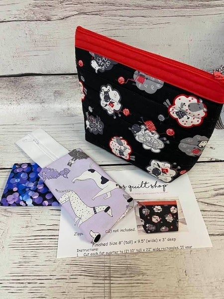 Millie's One Hour Pouch Purple Dogs