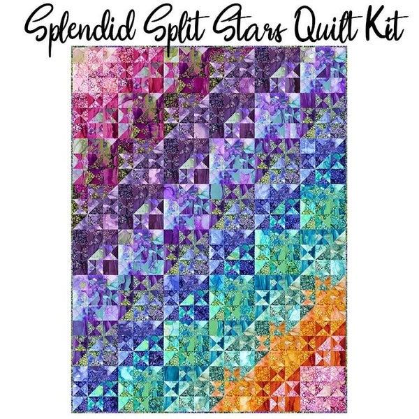 "Pre-Order Kit:  Splendid Split Stars (inc. ptrn).  90.5"" x 105.5"""