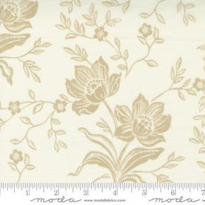 Moda  Woodcut Floral Cream (72 x 108)