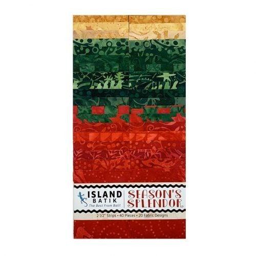 Island Batik Strip Pack:  Season's Splendor (40 pieces)