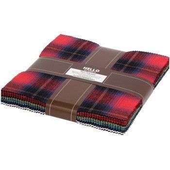 Ten Square Red/Multi Check Flannel