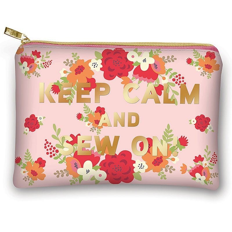 Keep Calm Sew On Glam Bag