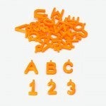 Pinnable Block Markers Orange (36 pieces A-Z & 0-9)