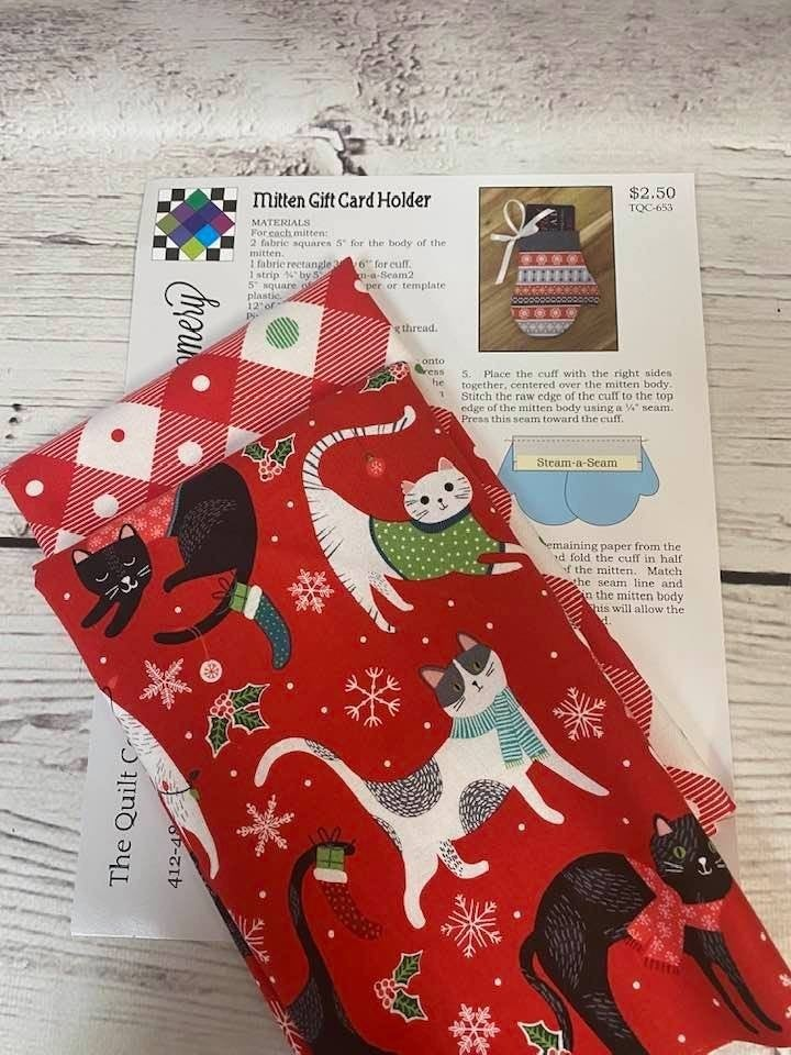 Kit:  KM Mitten Gift Card Holder Cats (Makes up to 12) Inc. Ptrn