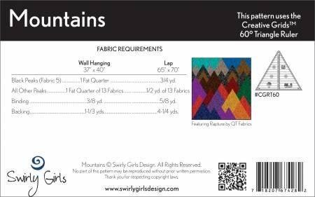 Pattern:  Mountains by Swirly Girls - 2 sizes