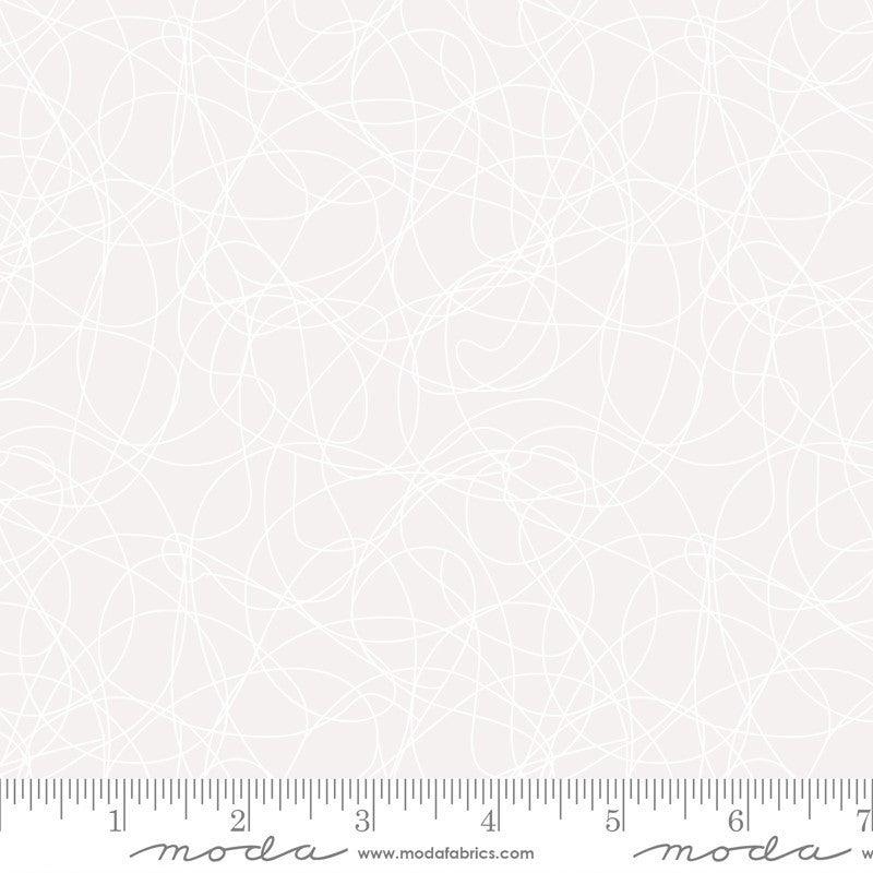 Moda Whisper - Tangles in White - One yard cut