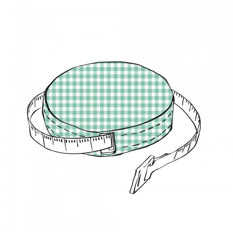 "Lori Holt 60"" Tape Measure Green Gingham"