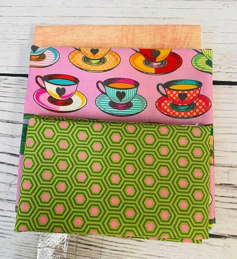 Kit:  June Tailor Lunchbox Tula Cups (Need Batting/Zipper Kit)