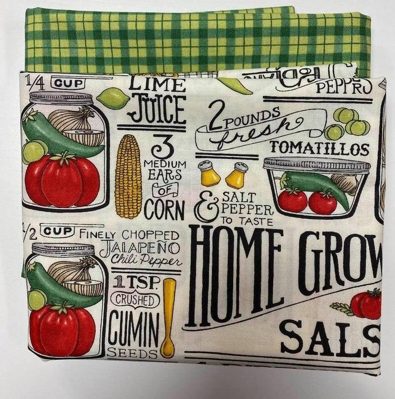 Fabric Bundle:  One Yard Each Vegetable White