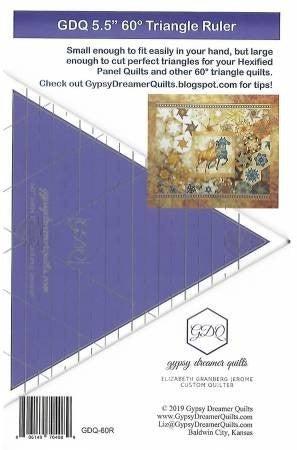 60 Deg. Triangle Ruler (great for One Block WOnder)