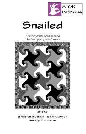 Pattern:  A OK 5-Yard Quilt Snailed