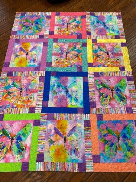 "Kit:  Butterfly Dreams 47"" x 63"" NEED PTRN"