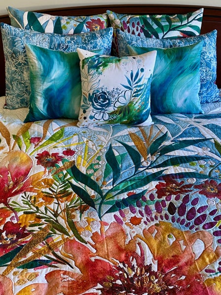 Moda Moody Bloom Bedding Project Panel