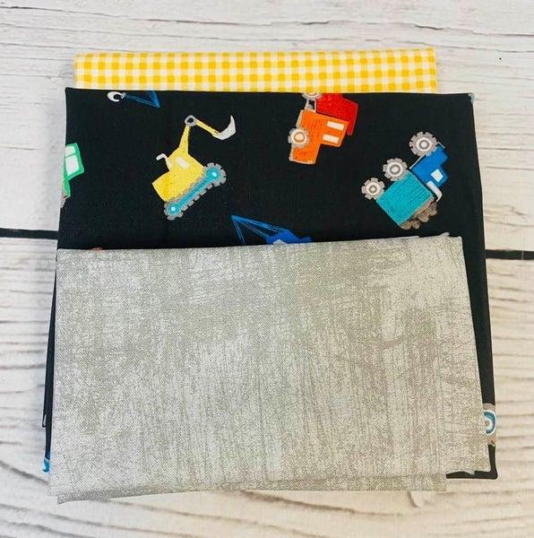 Kit:  June Tailor Lunchbox Dump Trucks (Need Batting/Zipper Kit)