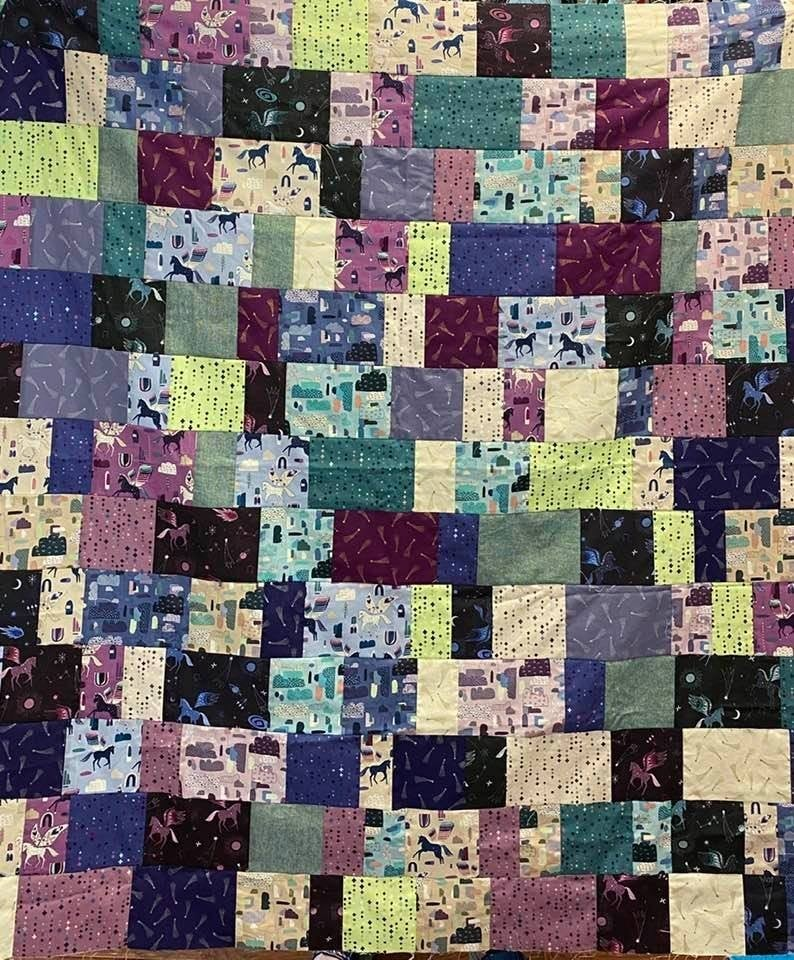 """Kit:  Stripping in My Sewing Room 53"""" x 64"""" Cotton & Steel"""