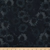 "Wideback 108"" Sunflower Whispers One Yard Black"