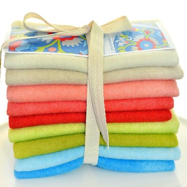 """Americana Rose Wool Bundle - 9 piece  9"""" x 17"""" by Weeks"""