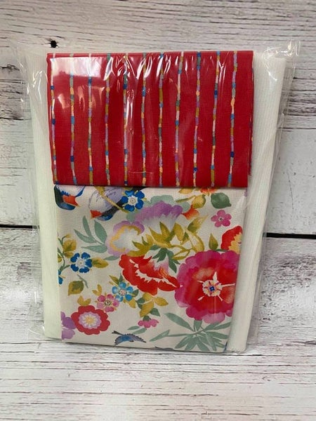 Kit:  One Hour Basket Red Flower