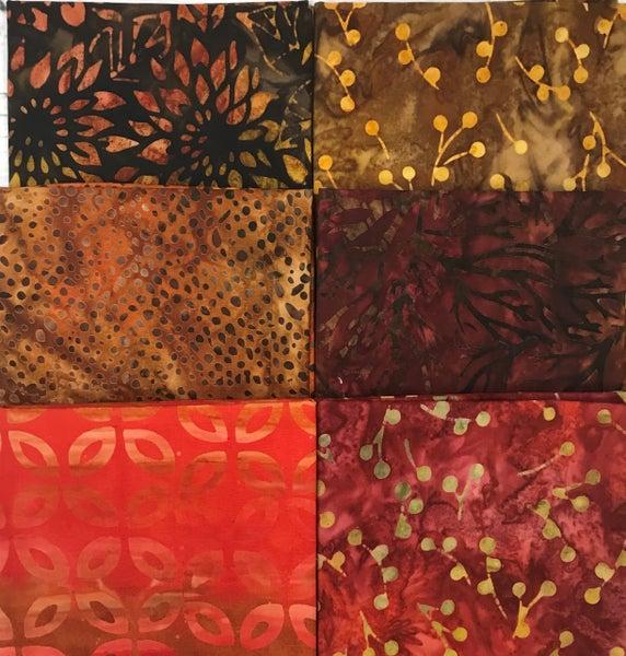 FQ Bundle (6) Batik Autumn Colors