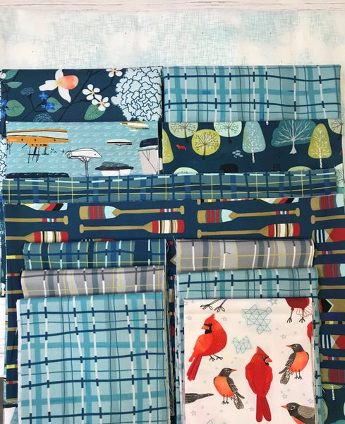 Kit:  Strips and Bars -Lakeside  48x60 (includes pattern)