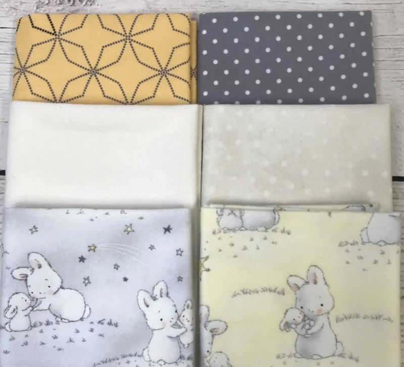 Fat Quarter Bundle (6) Baby Flannel