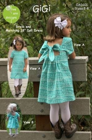 Pattern:  Gigi Girl's Dress Size 2-8 *Final Sale*