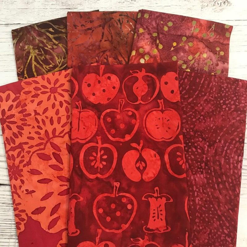 FQ Bundle (6) Redhot Batiks