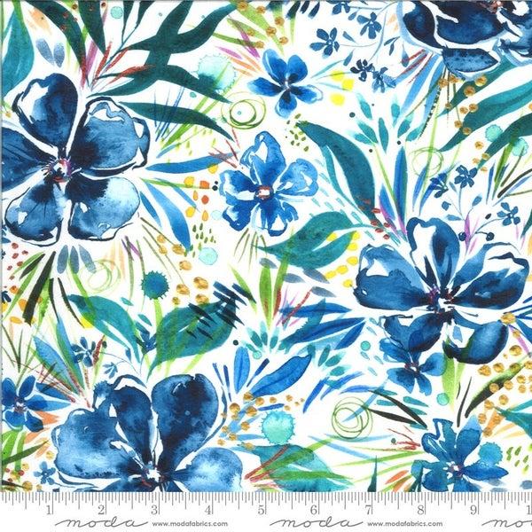 """Moody Bloom Print Fabric B 42 - 44"""" Cotton Digital - one yard cut"""