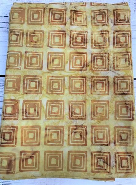 BYOK - Backing Batik Squares Gold (3 3/8 yards)