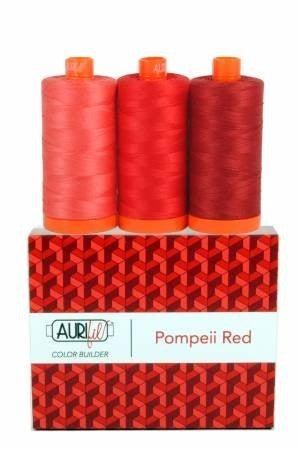 Aurifil Color Builder Pompeii Red