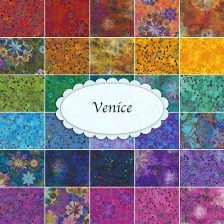 "Venice Charm Squares (42) 5"" squares"