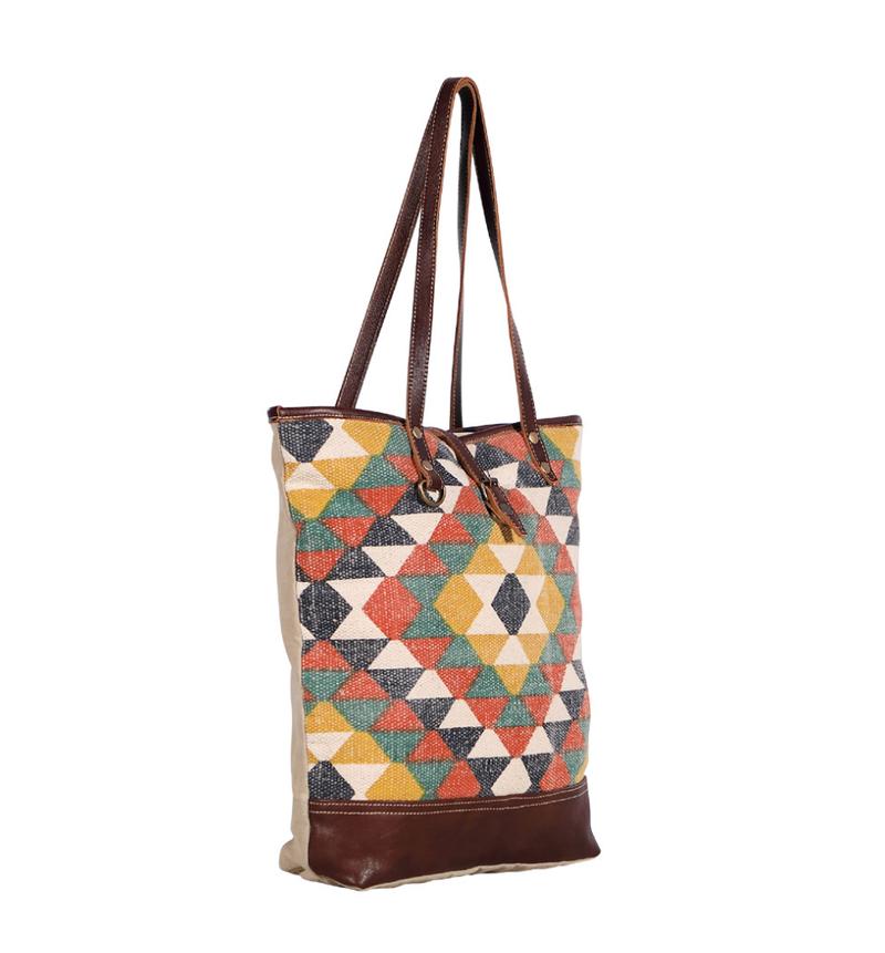 Myra Bag Aztec Pattern Tote Bag