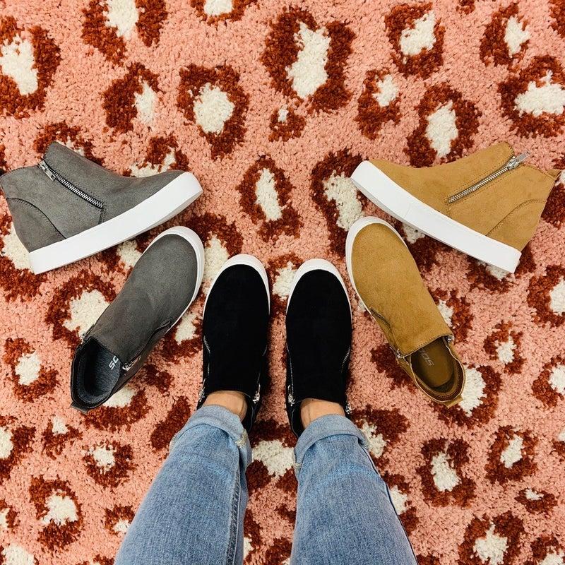 Restock! Best Selling Fall Into Comfort Sneaker Booties—3 Colors!