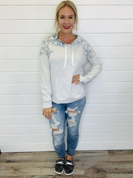 Camo In The City Hoodie Top