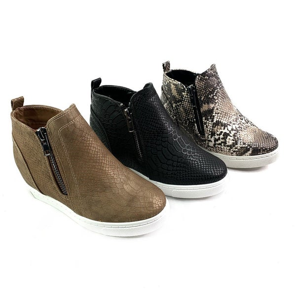 RESTOCK! Best Selling Wedge Sneaker Booties