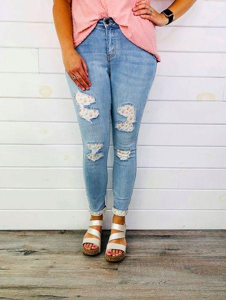 Plus/Reg Judy Blue Bloom Where You're Planted Jeans