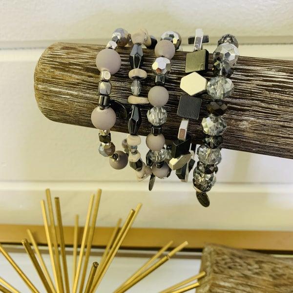 Erimish Necessary Neutrals Stack Bracelet-2 Sizes!