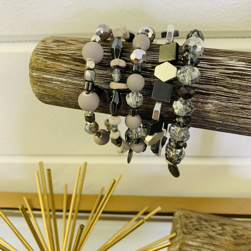 Erimish Necessary Neutrals Stack Bracelet-2 Sizes!