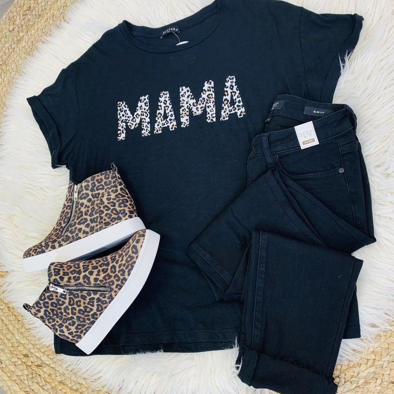 PLUS/REG Leopard Mama Tee