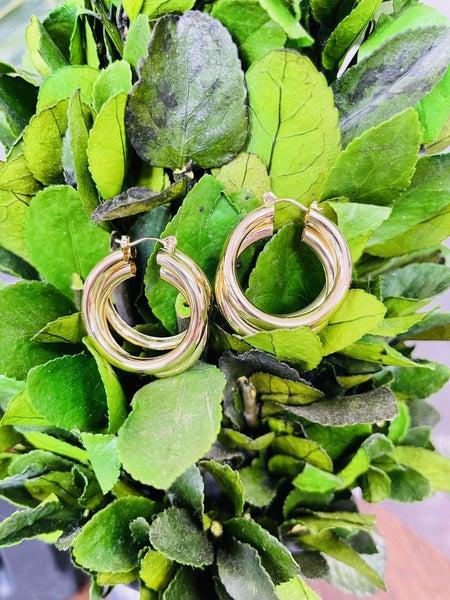 The Triple Hoop Earrings- 2 COLORS!