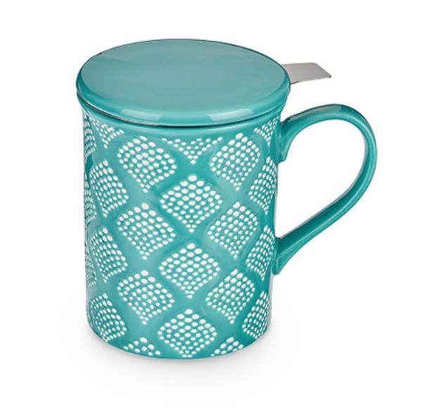 Teal Tea Mug and Infuser