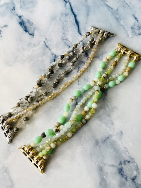 Beaded Watch Bands- 2 Colors!