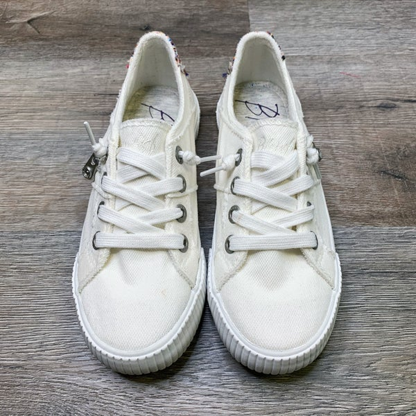 Restock! Blowfish Off White Slip on Sneakers
