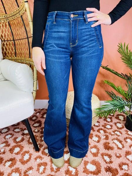 PLUS/REG Judy Blue Work It Girl Flare Jeans