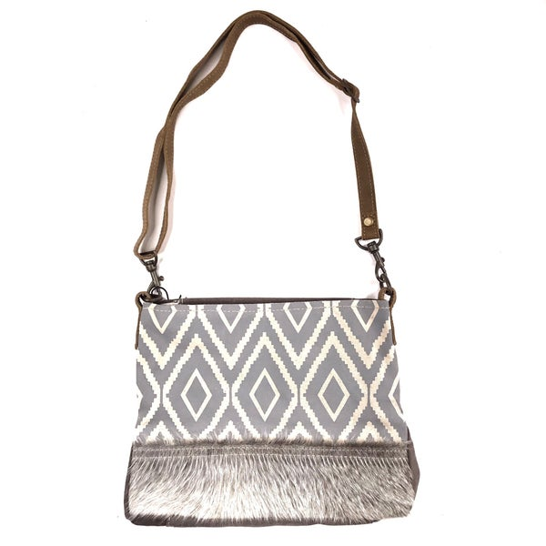 Myra Bag Aztec Print with Fur Crossbody