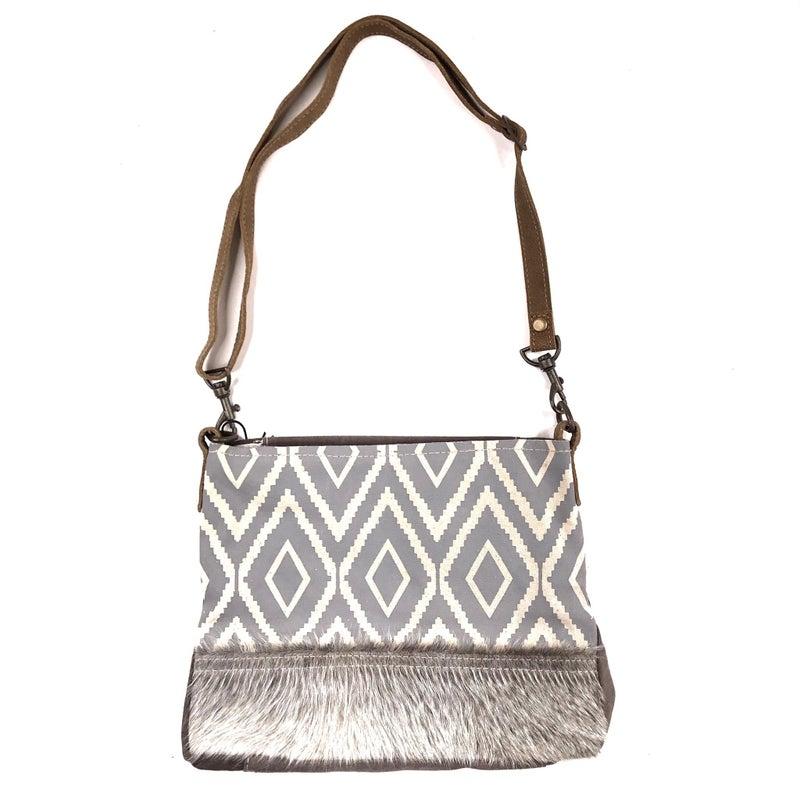 Myra Bag Aztec Print with Fur Crossbody